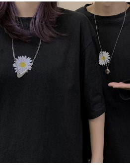 UNISEX DAISY EMBROIDER SHORT-SLEEVED / LONG-SLEEVED TOPS