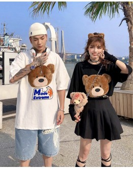 FREE SHIPPING UNISEX MADE BEAR LOOSE TOPS