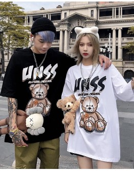 FREE SHIPPING UNISEX UNSS BEAR LOOSE TOPS