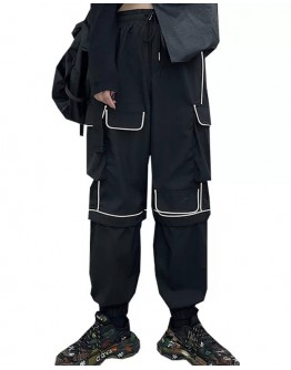 UNISEX REFLECTS STRIPE POLYESTER TROUSERS