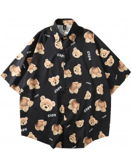 FREE SHIPPING UNISEX BEAR SHORT-SLEEVED SHIRT
