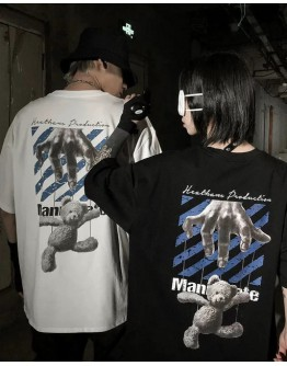 FREE SHIPPING UNISEX MANIPULATE BEAR OVER-SIZE TOPS