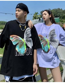 FREE SHIPPING UNISEX BUTTERFLY MFOUR LOOSE TOPS
