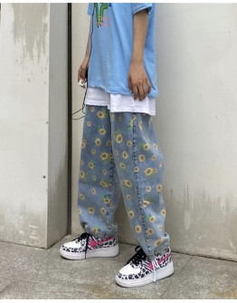 FREE SHIPPING UNISEX FLORA LOOSE JEANS