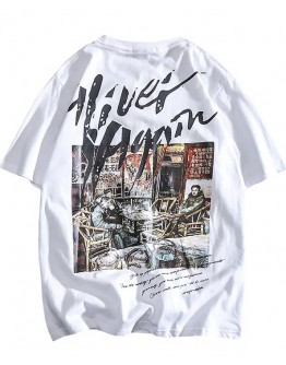 FREE SHIPPING UNISEX OLD SCHOOL PRINT TOPS