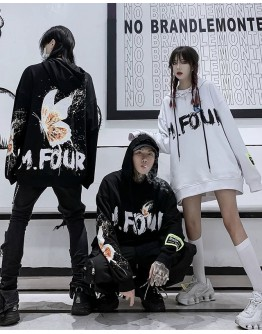 FREE SHIPPING UNISEX M.FOUR BUTTERFLY HOODIE SWEATER