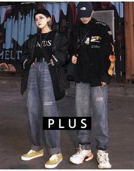 FREE SHIPPING UNISEX PLUS SIZE LOOSE JEANS