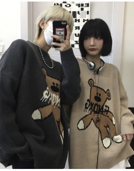 FREE SHIPPING UNISEX MR BEAN BEAR TOYS KNIT SWEATER
