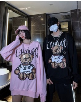 FREE SHIPPING UNISEX WFO BEAR PRINT SWEATER