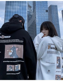 FREE SHIPPING UNISEX TOM AND JERRY HOODIE PLUS SWEATER