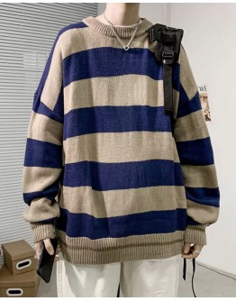 FREE SHIPPING UNISEX STRIPE PATTERED KNIT SWEATER