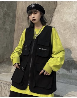 FREE SHIPPING UNISEX HUP.S  EMBRODIER  ZIPPER VEST