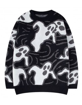 FREE SHIPPING UNISEX GHOST KNITTED SWEATER