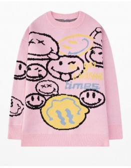 FREE SHIPPING UNISEX SMILE TIMES KNITTED SWEATER