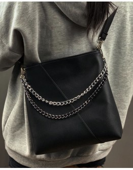 【WHB】LAYRED CHAIN ZIPPERED CROSSBODY BAGS