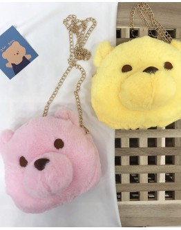 【WHB】BEAR ZIPPERED CHAIN CROSSBODY BAGS