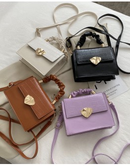 【WHOLESALE】LADIES FAUX LEATHER SQUARES SMALL CROSSBODY