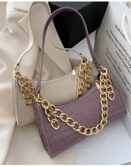 【WHOLESALE】FAUX LEATHER CHAIN SMALL HANGBAGS