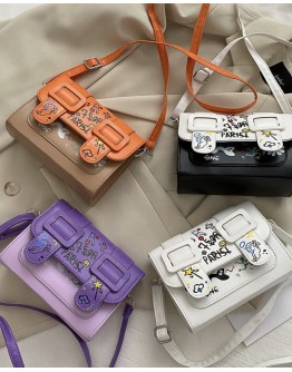 【WHOLESALE】FAUX LEATHER CARTOON SMALL CROSSODY