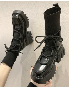 【WHOLESALE】LADIWS LACE-UP SOCKS BOOTIES