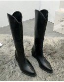 【WHOLESALE】LADIES FAUX LEATHER KNEE-HIGH BOOT