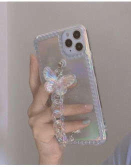 FREE SHIPPING IPHONE BUTTERFLY CHAIN CASE