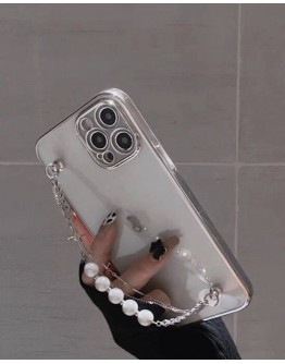 FREE SHIPPING FAUX PEARL CHAIN CASE FOR IPHONE