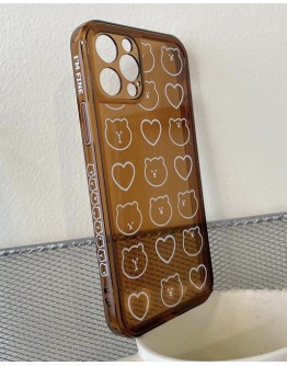 FREE SHIPPING LOVE HEART BEAR TPU CASE FOR IPHONE