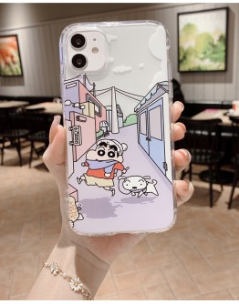 FREE SHIPPING CRAYON SHIN-CHAN LIFE STYLE CASE FOR IPHONE