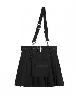 FREE SHIPPING PLEATED BELT A-LINE SKIRT