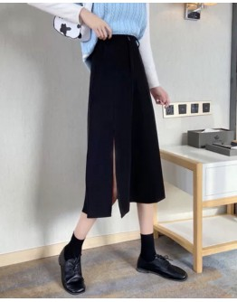 FREE SHIPPING LADIES LONG-LINE PLUS SPLIT SKIRT