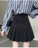 FREE SHIPPING LADIES ASYMMETRICAL PLEATED PLUS SKIRT