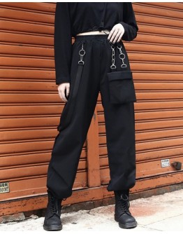 LADIES CHAIN POCKETS TROUSERS