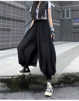 FREE SHIPPING LADIES CHIFFON CUT-OUT PANTS