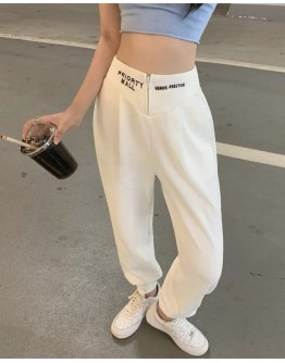 FREE SHIPPING EMBROIDER ZIPPER SWEATPANTS