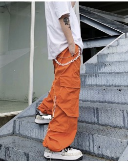 FREE SHIPPING UNISEX POLYESTER TROUSERS + FREE CHAIN