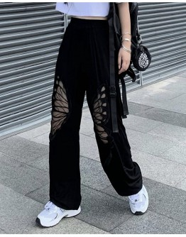 FREE SHIPPING CUT-OUT BUTTERFLY TROUSERS