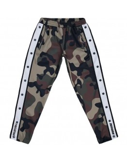 FREE SHIPPING LADIES BUTTON CAMOUFLAGE SWEATPANTS