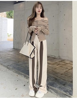 FREE SHIPPING OFF-THE-SHOULDER TOPS / PANTS