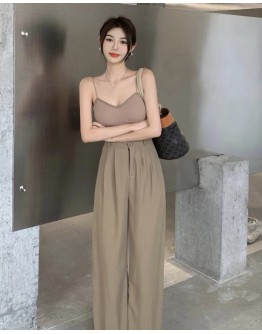 FREE SHIPPING BACKLESS VEST / POLYESTER PANTS