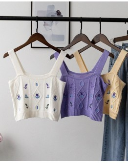 FREE SHIPPING FLORA EMBROIDER VEST