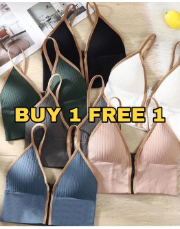 (BUY 1 FREE 1) FREE SHIPPING CAMISOLE ZIPPER VEST