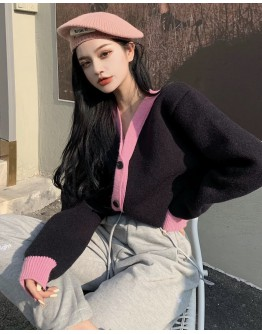 FREE SHIPPING LADIES KNITTED V-NECK JACKETS