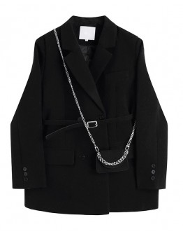 FREE SHIPPING LADIES WOOLEN CHAIN BAGS COAT