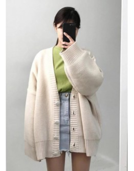 【GS】 KNITTED OVER-SIZE JACKET