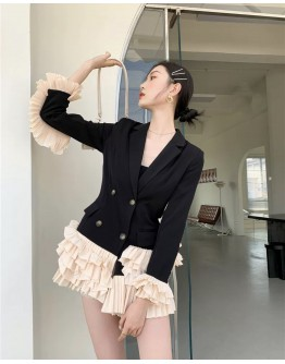 FREE SHIPPING ASYMMETRICAL LAYRED COAT