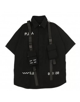 UNISEX PLAY PRINT TIE-BELT SHIRT