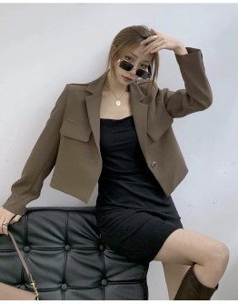 FREE SHIPPING SHORT COAT / FITTED DRESS
