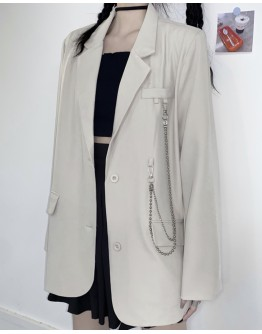 FREE SHIPPING LADIES POLYESTER CHAIN COAT