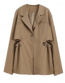 FREE SHIPPING LADIES CUT-OUT COAT